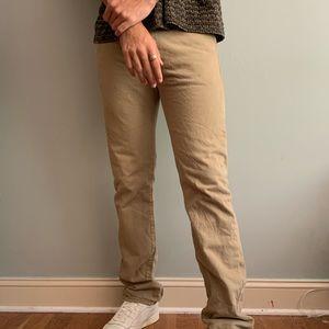 Men's Levi's Khaki 501 Button Fly Jeans
